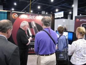 Amulet Devices stand at CES 2010.