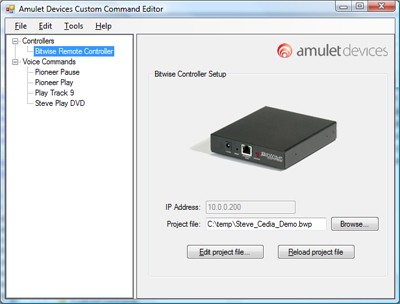 Amulet Bitwise Controller plug-in for voice control